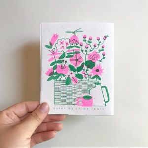 Risograph Quiet Zine by Chloe Lewis